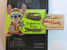 Disney Annual Passholder Stitch Disneyland Ticket Jungle Cruise pin LE 3000