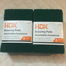 Lot of 12 HDX Scouring Scrub Pads Medium Duty (2 packs) - Sponge - Deep Clean