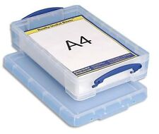 Really Usefull 4L Box Ideal for A4 Paper Card Storage Colour Clear 4 l litre