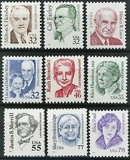 Great Americans Complete Set of 9 MNH Stamps Scott's 2933 to 2943 Ships FREE
