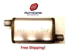 """Cherry Bomb Salute SA1235 Stainless Steel Muffler Offset / Offset  2.25"""" In/Out"""