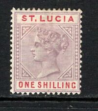 More details for st. lucia qv 1886-87 (die i) 1s. dull mauve & red sg42 m/mint (high cat)