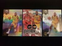 2019-20 Panini Illusions LeBron James Career Lineage & Base 3 Card Lot Lakers