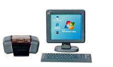 Monitor De Computadora, Impresora Y Teclado, casa de muñecas en miniatura, escala 1.12 de estudio