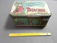 Ancienne boîte publicitaire métal chaussures PATACHOU vintage déco commerce