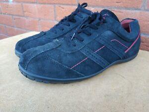 ECCO Mens Ecco Light Shock Point Black Suede Trainers Shoes Size UK 12 EUR 46