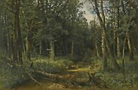 The Dark Wood by Russian Artist Ivan Shishkin. Forests Repro on Canvas or Paper