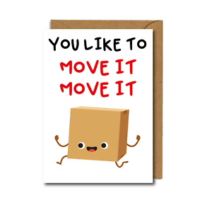 Funny NEW HOME MOVING card CARDBOARD box FREE P&P