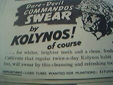 ephemera 1941 advert dare devil commandos by kolynos