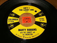 MARTY ROBBINS - AIN'T I THE LUCKY ONE - THE LAST TIME I  / LISTEN / ROCK COUNTRY