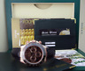 ROLEX Mens Rose Gold Daytona Chocolate Arabic Dial Black Strap 116515 SANT BLANC
