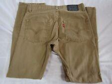 LEVI'S Boy's 511 Skinny Brown Tan Corduroy Jeans Size 16 Regular 28 x 28
