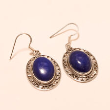 Genuine Afghan Lapis Lazuli Sterling Silver Earring Fashion Christmas Jewelry AA
