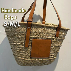 Summer Women Capacity Straw Bags Handmade Woven Basket Bolsa Tote Handbags