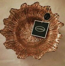 "Azzurra Decorative Handmade Turkish Glass Bowl 8.5"" Gold"