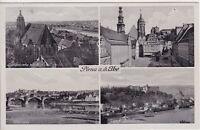 uralte AK, Pirna an der Elbe, verschiedene Ansichten wie Marienkirche, Elbbrücke