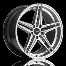 19X9.5 Advanti Racing Rein 5X114.3 +40 Silver Wheels Fits Honda Accord 2008-2012