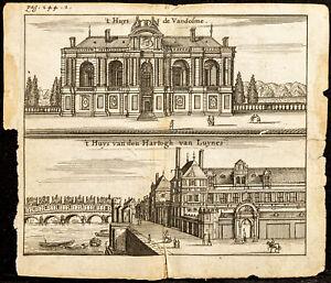 1661 - París - Vista De Hotel Kickers, De Borde De Sena - Grabado Antigua