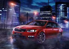"2015 SKODA OCTAVIA RS 230 NEW A4 POSTER GLOSS PRINT LAMINATED 11.7""x8.3"""