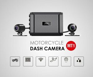 MT1 DUAL CHANNEL 1080P MOTORCYCLE DASH CAM BUILT IN WI-FI GPS WITH 32GB MICRO SD
