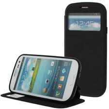 Artificial Funda Móvil Para Samsung S3/i9300 Negro con Ventana, Displayklappe,