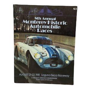 8th Annual Monterey Historic Automobile Races Program 1981 Laguna Seca Raceway