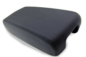 Fits 1998-2004 Cadillac Seville Real Leather Console Lid Armrest Cover Black