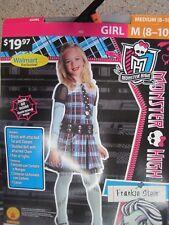 Monster High Frankie Stein Kids Girls Halloween Costume Size Medium (8-10)