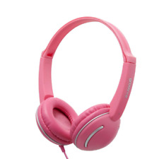 GROOV-E STREETZ KIDS HEADPHONES WITH VOLUME CONTROL - PINK - GV897/PINK