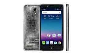 NEW FreedomPop Alcatel Onetouch Conquest 4G LTE 8GB Android Cell Phone BLACK