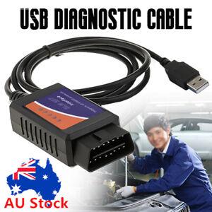 ELM327 ELM OBD OBD2 USB Diagnostic Scanner For PC Engine Scan Tool Code Reader