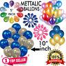 """10-100 PEARL Metallic 10"""" & 5"""" BALLOONS BALLON HELIUM BALOON Birthday WEDDING UK"""