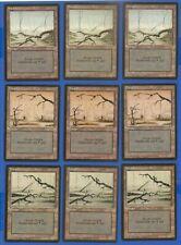 9X FBB LANDS  - MTG - GERMAN - SWAMP - 3 OF EACH TYPE