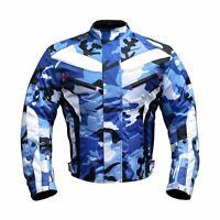 Motorrad Jacke Cordura Motorradjacke wasserdicht XS S M L XL XXL Camouflage BLAU