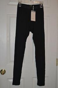 Men's ICEBREAKER Merino 175 Base Layer Bottoms BLACK 100% Wool Pants M
