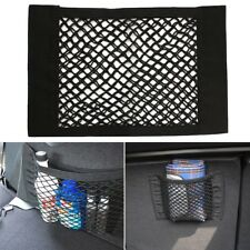 Universal Car Magic Storage Net Pocket Bag Double Layer Holder 16x10inch Black