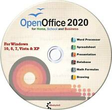 Open Office 2020 Software Suite for Microsoft Windows for Home and Student Cd