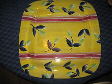 """Square 15 1/2""""x15 1/2"""" x1 1/2"""" Deep Platter Made In Italy Yellow,Blue,Green,Red"""