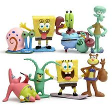 Spongebob Squarepants Playset 8 Figure Cake Topper * USA SELLER* Toy Doll Set