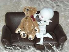 "BJD photo diorama prop MSD SD YOSD sz smal plush foot print bear NO DOLL INCL 3"""