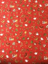 Makower Metallic Xmas Icon Scatter 1663 Cotton Fabric By The Fat quarter