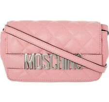 MOSCHINO Logo Rosa Borsa trapuntata in pelle Crossbody a2954e9a72f