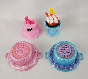 Barbie Doll House Diorama Cakes Accessories Lot of 4