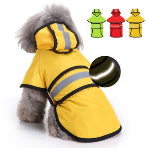 Dog Raincoat Reflective Rain Jacket Waterproof Pet Clothes Rainwear Coats Yorkie