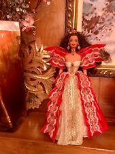 RED RIBBONS LACE GOWN Holidays Barbie 1997 #17832 Used for Display