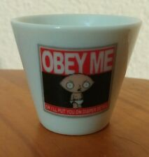 "FAMILY GUY 2005 miniature porcelain cup ""STEWIE""  (OBEY ME)"