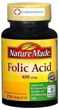 Nature Made Folic Acid 400 mcg Tablets 250ct