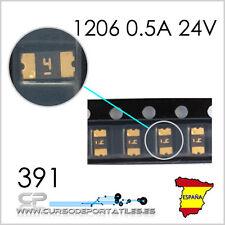 5 Unidades Fusible Fuse SMD 1206 0.5A 24V 0.5 Amperio 24Voltios 0.5Amperio