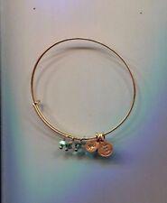 ALEX & ANI gold aqua crystal bracelet