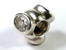 PANDORA CHARM SILVER 925 ALE 3 CLEAR OVAL LIGHTS CHARM 790289CZ RETIRED